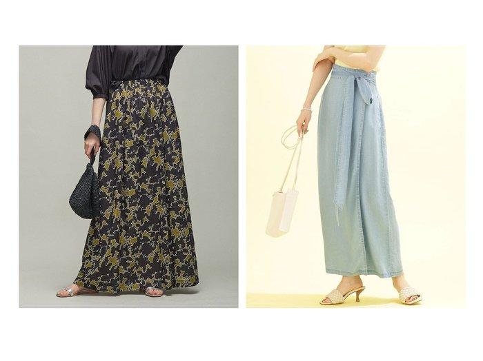 【nano universe/ナノ ユニバース】のサークルデニムラップスカート (セットアップ可)&【iCB/アイシービー】のShadow Flower 2WAY ロングスカート 【スカート】おすすめ!人気、トレンド・レディースファッションの通販 おすすめ人気トレンドファッション通販アイテム 人気、トレンドファッション・服の通販 founy(ファニー) ファッション Fashion レディースファッション WOMEN スカート Skirt ロングスカート Long Skirt セットアップ Setup スカート Skirt Aライン/フレアスカート Flared A-Line Skirts ギャザー シアー フォルム フラワー プリント 無地 ロング 2021年 2021 S/S・春夏 SS・Spring/Summer 2021春夏・S/S SS/Spring/Summer/2021 送料無料 Free Shipping ヴィンテージ サークル セットアップ デニム ノースリーブ ラップ リボン おすすめ Recommend |ID:crp329100000044056