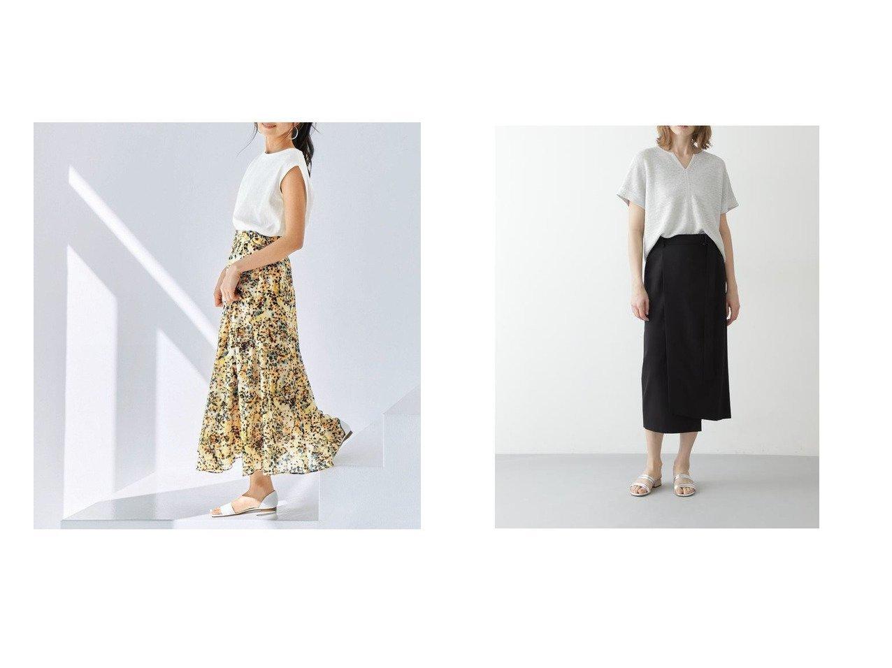 【BOSCH/ボッシュ】のVISハイツイストセットアップスカート&【KUMIKYOKU/組曲】の【KMKK】ニュアンスフラワープリント スカート 【スカート】おすすめ!人気、トレンド・レディースファッションの通販 おすすめで人気の流行・トレンド、ファッションの通販商品 インテリア・家具・メンズファッション・キッズファッション・レディースファッション・服の通販 founy(ファニー) https://founy.com/ ファッション Fashion レディースファッション WOMEN スカート Skirt セットアップ Setup スカート Skirt コンパクト セットアップ プリント ベーシック リラックス ロング 2021年 2021 S/S・春夏 SS・Spring/Summer 2021春夏・S/S SS/Spring/Summer/2021 送料無料 Free Shipping アシンメトリー イレギュラー スリム ヘムライン ラップ ワイド |ID:crp329100000044057
