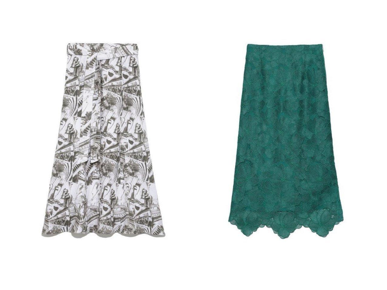 【Mila Owen/ミラオーウェン】の後巻き風麻フレアスカート&【FRAY I.D/フレイ アイディー】のシアーラメフラワーレーススカート 【スカート】おすすめ!人気、トレンド・レディースファッションの通販 おすすめで人気の流行・トレンド、ファッションの通販商品 インテリア・家具・メンズファッション・キッズファッション・レディースファッション・服の通販 founy(ファニー) https://founy.com/ ファッション Fashion レディースファッション WOMEN スカート Skirt Aライン/フレアスカート Flared A-Line Skirts ウォッシャブル シンプル スマート フレア フレンチ フロント ミックス リネン NEW・新作・新着・新入荷 New Arrivals |ID:crp329100000044068