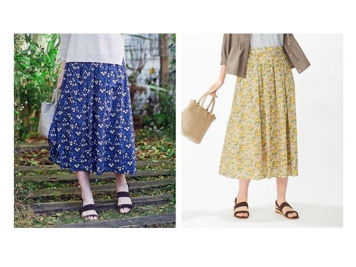 【J.PRESS/ジェイ プレス】の【洗える】リバティプリント スカート 【スカート】おすすめ!人気、トレンド・レディースファッションの通販 おすすめ人気トレンドファッション通販アイテム 人気、トレンドファッション・服の通販 founy(ファニー) ファッション Fashion レディースファッション WOMEN スカート Skirt Aライン/フレアスカート Flared A-Line Skirts 洗える ギャザー セットアップ ドレープ プリント ボタニカル |ID:crp329100000044072