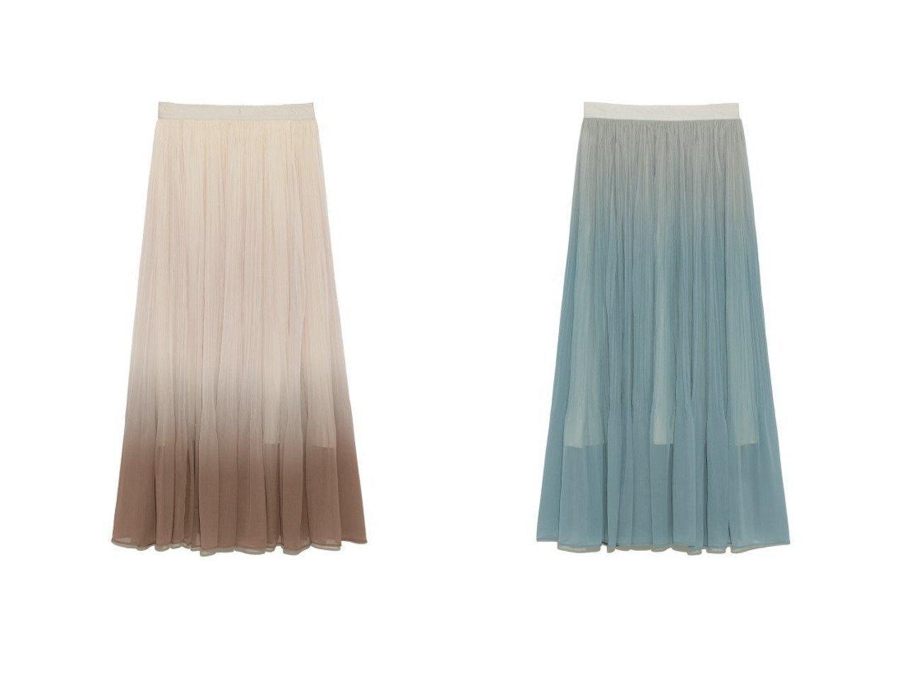 【Lily Brown/リリーブラウン】のエアリープリーツスカート 【スカート】おすすめ!人気、トレンド・レディースファッションの通販 おすすめで人気の流行・トレンド、ファッションの通販商品 インテリア・家具・メンズファッション・キッズファッション・レディースファッション・服の通販 founy(ファニー) https://founy.com/ ファッション Fashion レディースファッション WOMEN スカート Skirt プリーツスカート Pleated Skirts 春 Spring グラデーション サテン シアー シフォン スマート トレンド 定番 Standard フィット プリント プリーツ S/S・春夏 SS・Spring/Summer |ID:crp329100000044075