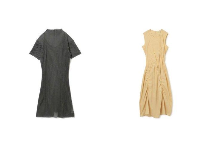 【HOLZWEILER/ホルスウィラー】のBernard Dress&【LE CIEL BLEU/ルシェル ブルー】のSheer Pleated Knit Dress 【ワンピース・ドレス】おすすめ!人気、トレンド・レディースファッションの通販 おすすめ人気トレンドファッション通販アイテム 人気、トレンドファッション・服の通販 founy(ファニー) ファッション Fashion レディースファッション WOMEN ワンピース Dress ドレス Party Dresses ニットワンピース Knit Dresses ウェーブ カットソー キャミソール シアー ドレス ハイネック プリーツ 半袖 2021年 2021 2021春夏・S/S SS/Spring/Summer/2021 S/S・春夏 SS・Spring/Summer アシンメトリー ギャザー ノースリーブ フォーマル ロング 洗える |ID:crp329100000044151