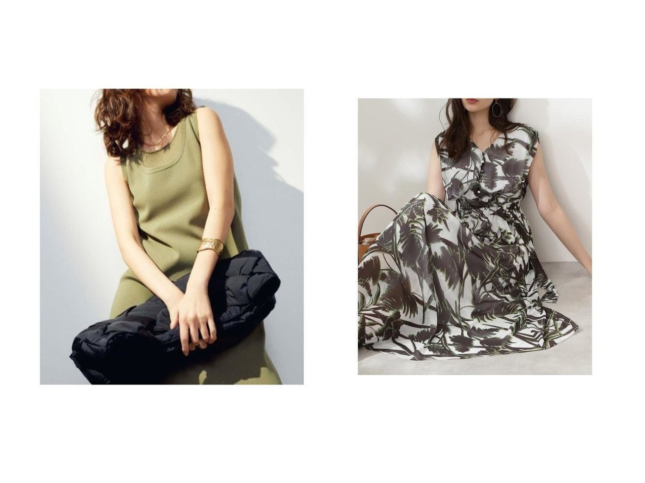 【Pinky&Dianne/ピンキーアンドダイアン】の共布リボン付きリーフプリントマキシワンピース&【Mila Owen/ミラオーウェン】のタンク型ニットワンピース 【ワンピース・ドレス】おすすめ!人気、トレンド・レディースファッションの通販 おすすめで人気の流行・トレンド、ファッションの通販商品 インテリア・家具・メンズファッション・キッズファッション・レディースファッション・服の通販 founy(ファニー) https://founy.com/ ファッション Fashion レディースファッション WOMEN ワンピース Dress ニットワンピース Knit Dresses マキシワンピース Maxi Dress カットソー シンプル スマート タンク マキシ リラックス ロング おすすめ Recommend ギャザー スタンダード ドレープ フロント リボン |ID:crp329100000044181