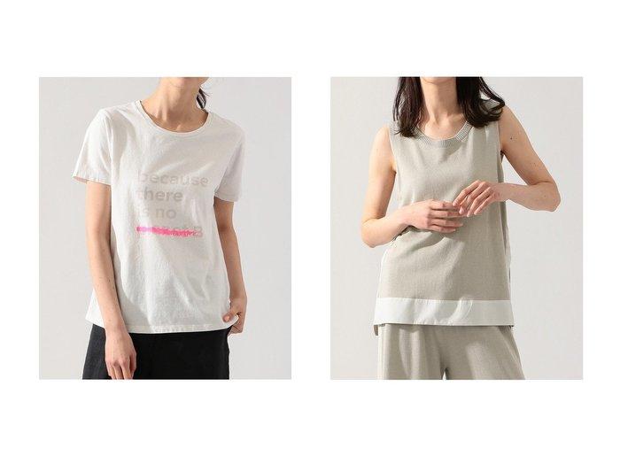 【ECOALF/エコアルフ】のUNDERLINED BACAUSE Tシャツ UNDERLINED BACAUSE T-SHIRT&NAHLA ノースリーブニット NAHLA TOP KNITTING 【トップス・カットソー】おすすめ!人気、トレンド・レディースファッションの通販 おすすめ人気トレンドファッション通販アイテム 人気、トレンドファッション・服の通販 founy(ファニー) ファッション Fashion レディースファッション WOMEN トップス・カットソー Tops/Tshirt シャツ/ブラウス Shirts/Blouses ロング / Tシャツ T-Shirts カットソー Cut and Sewn ニット Knit Tops キャミソール / ノースリーブ No Sleeves プルオーバー Pullover コレクション ショート スリーブ エレガント サマー ドッキング ノースリーブ |ID:crp329100000044187