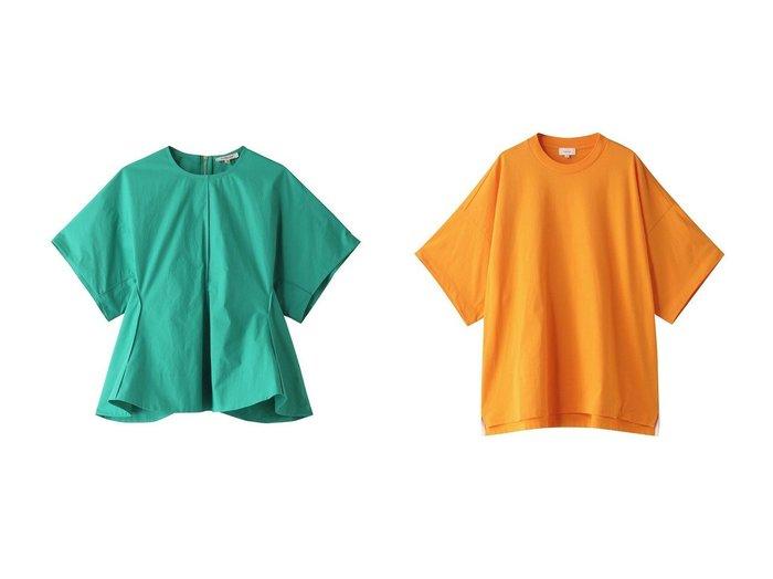 【BLAMINK/ブラミンク】のコットンクルーネックドルマンショートスリーブブラウス&コットンクルーネックオーバースリーブTシャツ 【トップス・カットソー】おすすめ!人気、トレンド・レディースファッションの通販 おすすめ人気トレンドファッション通販アイテム 人気、トレンドファッション・服の通販 founy(ファニー) ファッション Fashion レディースファッション WOMEN トップス・カットソー Tops/Tshirt シャツ/ブラウス Shirts/Blouses ロング / Tシャツ T-Shirts カットソー Cut and Sewn ショート スリーブ フレア 半袖 |ID:crp329100000044190