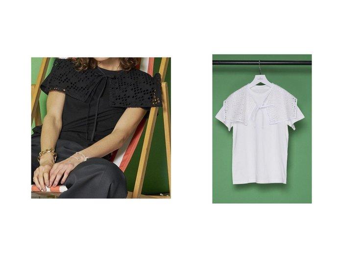 【MAISON SPECIAL/メゾンスペシャル】のエンブロイダリーカラーTシャツ 【トップス・カットソー】おすすめ!人気、トレンド・レディースファッションの通販 おすすめ人気トレンドファッション通販アイテム 人気、トレンドファッション・服の通販 founy(ファニー) ファッション Fashion レディースファッション WOMEN トップス・カットソー Tops/Tshirt シャツ/ブラウス Shirts/Blouses ロング / Tシャツ T-Shirts カットソー Cut and Sewn エンブロイダリー カットソー ショート ジャケット スクエア スリーブ プリーツ ベーシック |ID:crp329100000044200