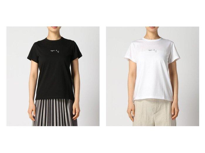 【agnes b. FEMME/アニエスベー ファム】のagnes b.SDF0 TS ロゴTシャツ 【トップス・カットソー】おすすめ!人気、トレンド・レディースファッションの通販 おすすめ人気トレンドファッション通販アイテム 人気、トレンドファッション・服の通販 founy(ファニー)  ファッション Fashion レディースファッション WOMEN トップス・カットソー Tops/Tshirt シャツ/ブラウス Shirts/Blouses ロング / Tシャツ T-Shirts カットソー Cut and Sewn おすすめ Recommend カットソー シンプル フロント 半袖 |ID:crp329100000044218