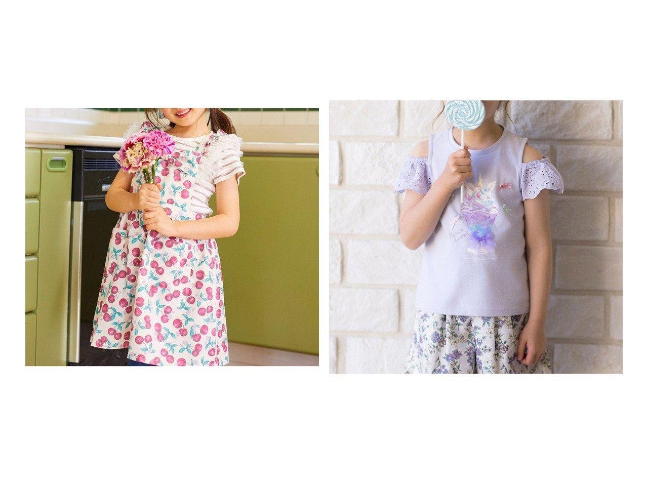 【anyFAM / KIDS/エニファム】の三角巾付き キッズエプロン&接触冷感オンオフショルダー Tシャツ 【KIDS】子供服のおすすめ!人気トレンド・キッズファッションの通販 おすすめで人気の流行・トレンド、ファッションの通販商品 インテリア・家具・メンズファッション・キッズファッション・レディースファッション・服の通販 founy(ファニー) https://founy.com/ ファッション Fashion キッズファッション KIDS トップス・カットソー Tops/Tees/Kids オフショルダー カットソー カラフル 切替 人気 プリント 送料無料 Free Shipping  ID:crp329100000044551