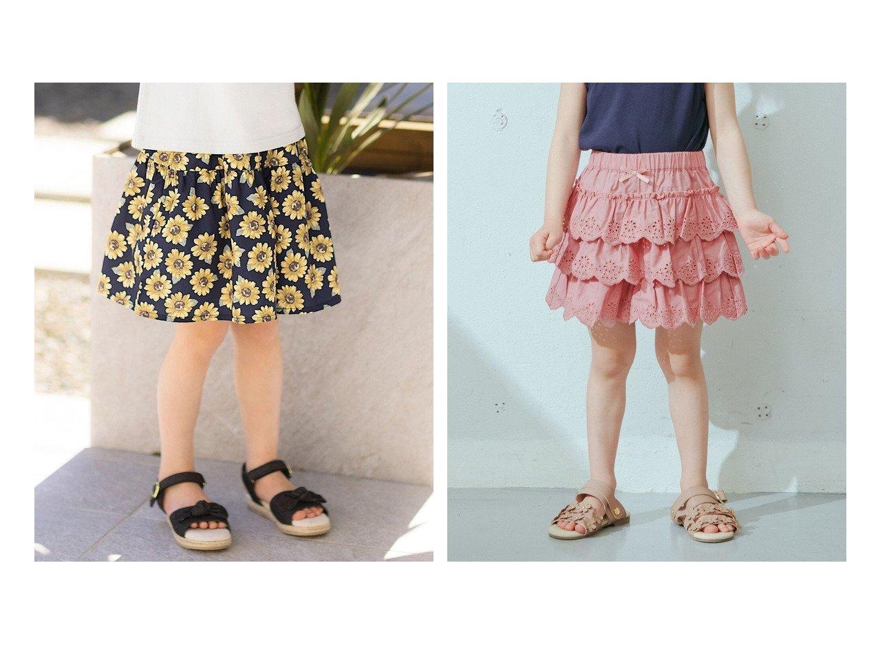 【anyFAM / KIDS/エニファム】のひまわりキュロット&レースティアード キュロット 【KIDS】子供服のおすすめ!人気トレンド・キッズファッションの通販 おすすめで人気の流行・トレンド、ファッションの通販商品 インテリア・家具・メンズファッション・キッズファッション・レディースファッション・服の通販 founy(ファニー) https://founy.com/ ファッション Fashion キッズファッション KIDS ボトムス Bottoms/Kids ガーリー キュロット 人気 ラベンダー リボン レース 送料無料 Free Shipping シンプル 再入荷 Restock/Back in Stock/Re Arrival おすすめ Recommend  ID:crp329100000044554