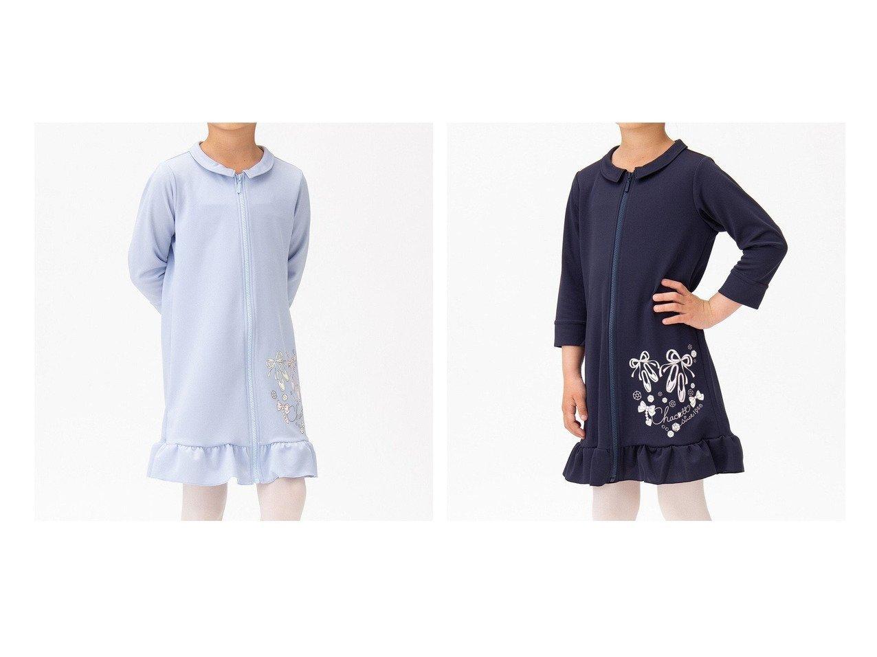 【Chacott / KIDS/チャコット】の【再入荷】ジップアップワンピース 【KIDS】子供服のおすすめ!人気トレンド・キッズファッションの通販 おすすめで人気の流行・トレンド、ファッションの通販商品 インテリア・家具・メンズファッション・キッズファッション・レディースファッション・服の通販 founy(ファニー) https://founy.com/ ファッション Fashion キッズファッション KIDS ワンピース Dress/Kids コンパクト フリル 再入荷 Restock/Back in Stock/Re Arrival 吸水  ID:crp329100000044569