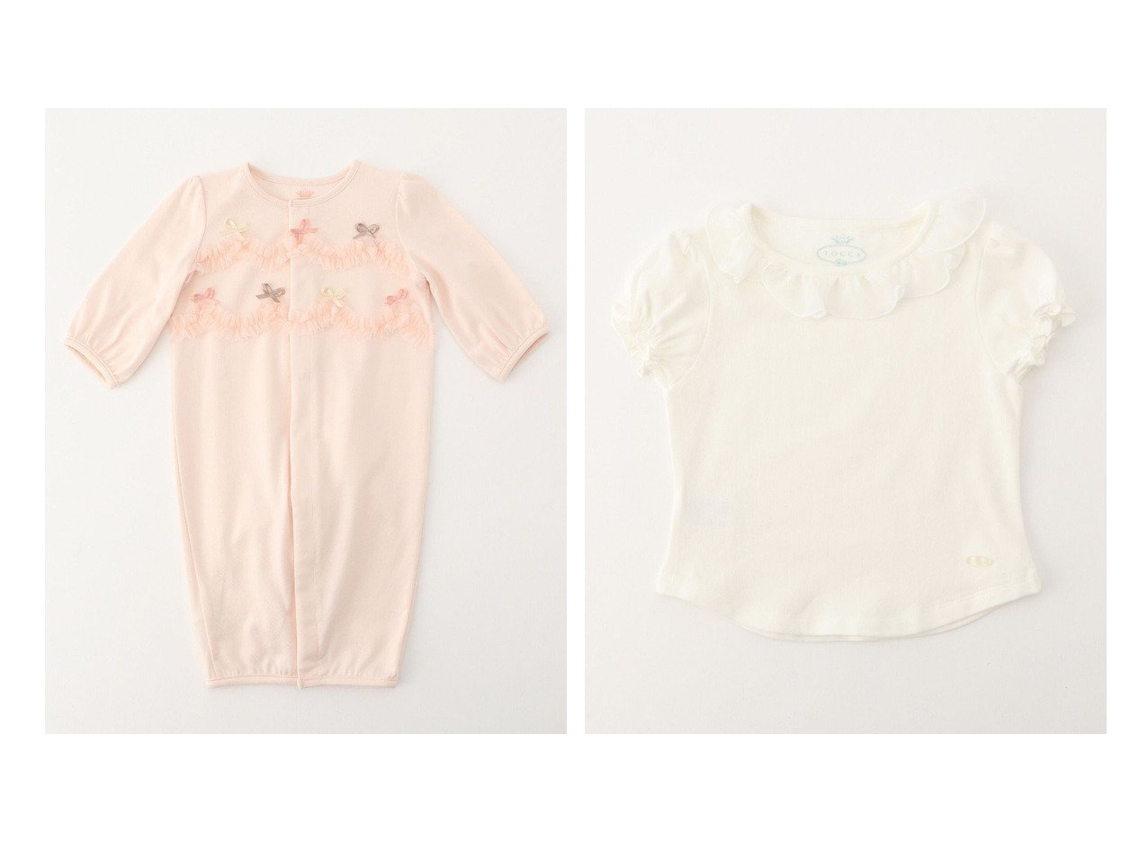 【TOCCA BAMBINI / KIDS/トッカ バンビーニ】の【BABY】フラワーカラー カットソー&【BABY】ガトーマリアージュ ロンパース 【BABY】ベビー服のおすすめ!人気、キッズファッションの通販 おすすめで人気の流行・トレンド、ファッションの通販商品 インテリア・家具・メンズファッション・キッズファッション・レディースファッション・服の通販 founy(ファニー) https://founy.com/ ファッション Fashion キッズファッション KIDS トップス・カットソー Tops/Tees/Kids 送料無料 Free Shipping チュール フィット ベビー リボン ロンパース インナー カットソー シンプル フラワー フリル ベーシック 半袖 |ID:crp329100000044623