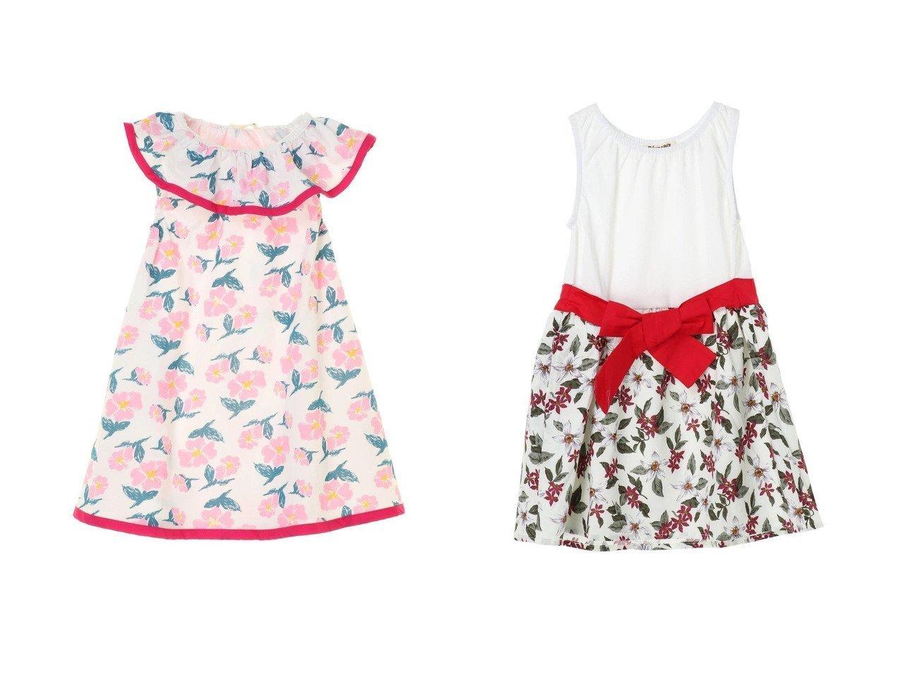 【Green Parks / KIDS/グリーンパークス】の・・花柄ノースリーブワンピース&・・ウエストマーク花柄ワンピース 【KIDS】子供服のおすすめ!人気トレンド・キッズファッションの通販  おすすめで人気の流行・トレンド、ファッションの通販商品 インテリア・家具・メンズファッション・キッズファッション・レディースファッション・服の通販 founy(ファニー) https://founy.com/ ファッション Fashion キッズファッション KIDS ワンピース Dress/Kids 送料無料 Free Shipping おすすめ Recommend チュニック ノースリーブ フリル プリント レギンス カーディガン シンプル ジャケット ドッキング フラワー リボン |ID:crp329100000044817