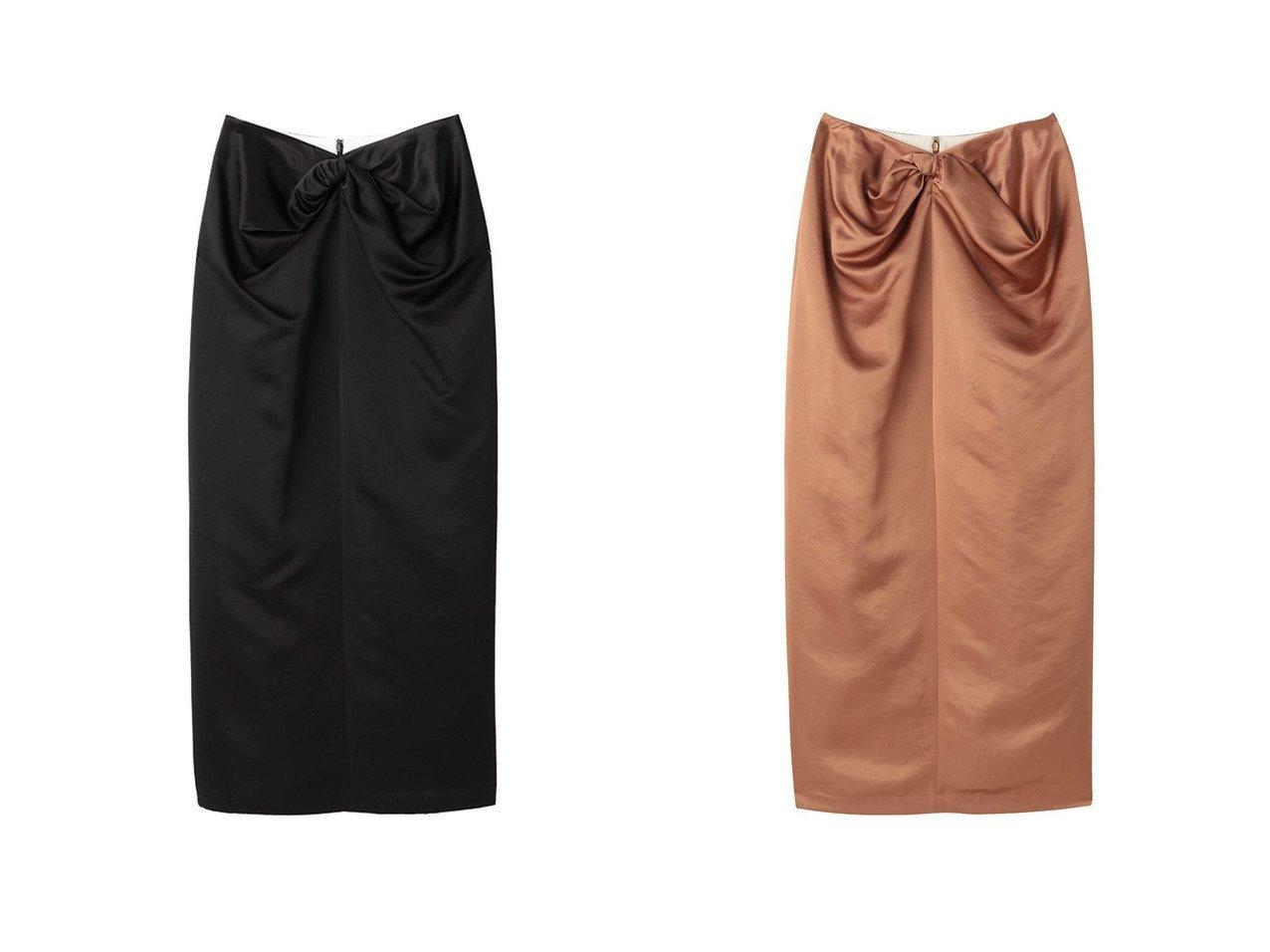 【ETRE TOKYO/エトレトウキョウ】のサテンドレープスカート 【スカート】おすすめ!人気、トレンド・レディースファッションの通販 おすすめで人気の流行・トレンド、ファッションの通販商品 インテリア・家具・メンズファッション・キッズファッション・レディースファッション・服の通販 founy(ファニー) https://founy.com/ ファッション Fashion レディースファッション WOMEN スカート Skirt ロングスカート Long Skirt サテン シンプル ツイスト ドレープ ロング 今季 |ID:crp329100000045116