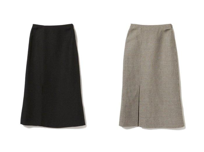 【Demi-Luxe BEAMS/デミルクス ビームス】のDemi- リネンレーヨン スリットスカート 【スカート】おすすめ!人気、トレンド・レディースファッションの通販 おすすめ人気トレンドファッション通販アイテム 人気、トレンドファッション・服の通販 founy(ファニー)  ファッション Fashion レディースファッション WOMEN スカート Skirt ロングスカート Long Skirt NEW・新作・新着・新入荷 New Arrivals ショート スリット リネン ロング |ID:crp329100000045119