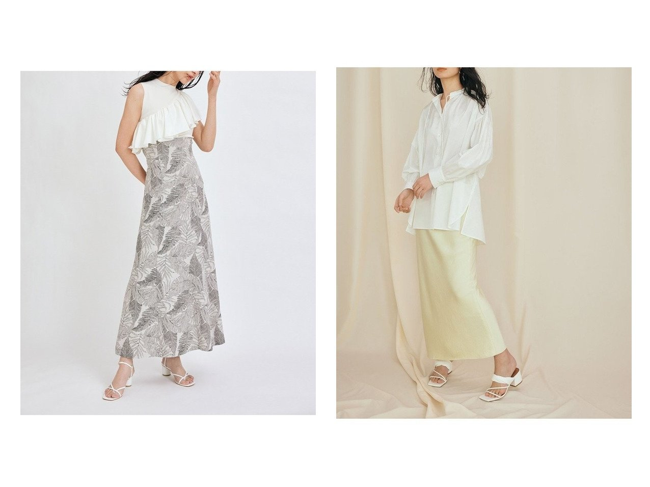 【FRAY I.D/フレイ アイディー】のサテンロングスカート&リーフジャガードナロースカート 【スカート】おすすめ!人気、トレンド・レディースファッションの通販 おすすめで人気の流行・トレンド、ファッションの通販商品 インテリア・家具・メンズファッション・キッズファッション・レディースファッション・服の通販 founy(ファニー) https://founy.com/ ファッション Fashion レディースファッション WOMEN スカート Skirt ロングスカート Long Skirt コルセット ストレート ヨーク リーフ レース ロング サテン バイアス ヴィンテージ |ID:crp329100000045121