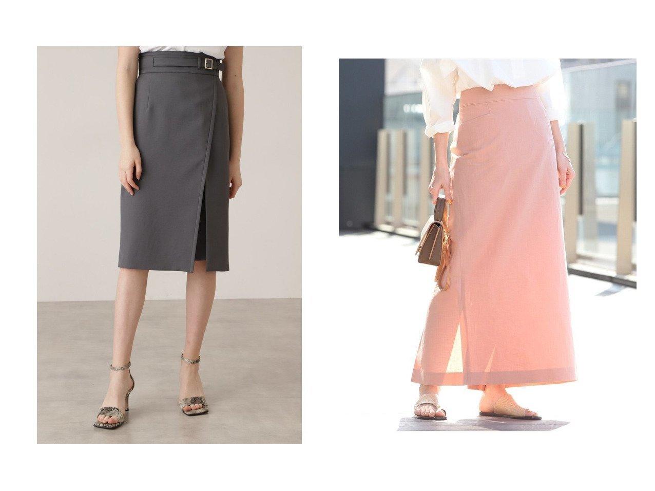 【Demi-Luxe BEAMS/デミルクス ビームス】のDemi- リネンコットン タイトスカート&【Pinky&Dianne/ピンキーアンドダイアン】のベルトデザインタイトスカート 【スカート】おすすめ!人気、トレンド・レディースファッションの通販 おすすめで人気の流行・トレンド、ファッションの通販商品 インテリア・家具・メンズファッション・キッズファッション・レディースファッション・服の通販 founy(ファニー) https://founy.com/ ファッション Fashion レディースファッション WOMEN スカート Skirt ロングスカート Long Skirt ベルト Belts タイトスカート リネン ロング スタンダード パイピング ヨーク ラップ |ID:crp329100000045123