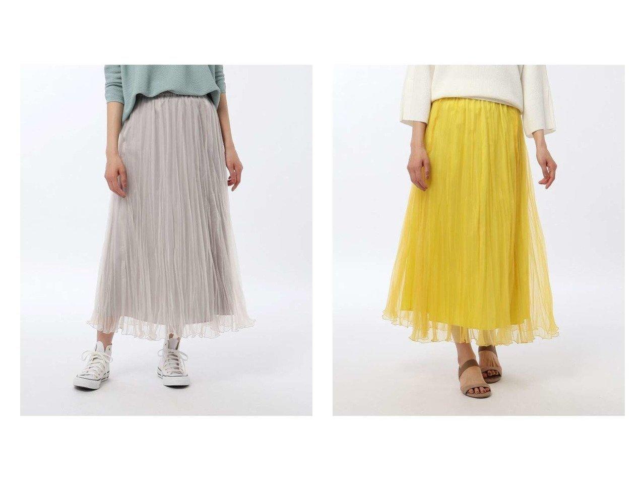 【UNTITLED/アンタイトル】のソフトオーガンジーワッシャースカート 【スカート】おすすめ!人気、トレンド・レディースファッションの通販 おすすめで人気の流行・トレンド、ファッションの通販商品 インテリア・家具・メンズファッション・キッズファッション・レディースファッション・服の通販 founy(ファニー) https://founy.com/ ファッション Fashion レディースファッション WOMEN スカート Skirt ロングスカート Long Skirt プリーツ マキシ ロング ワッシャー |ID:crp329100000045124