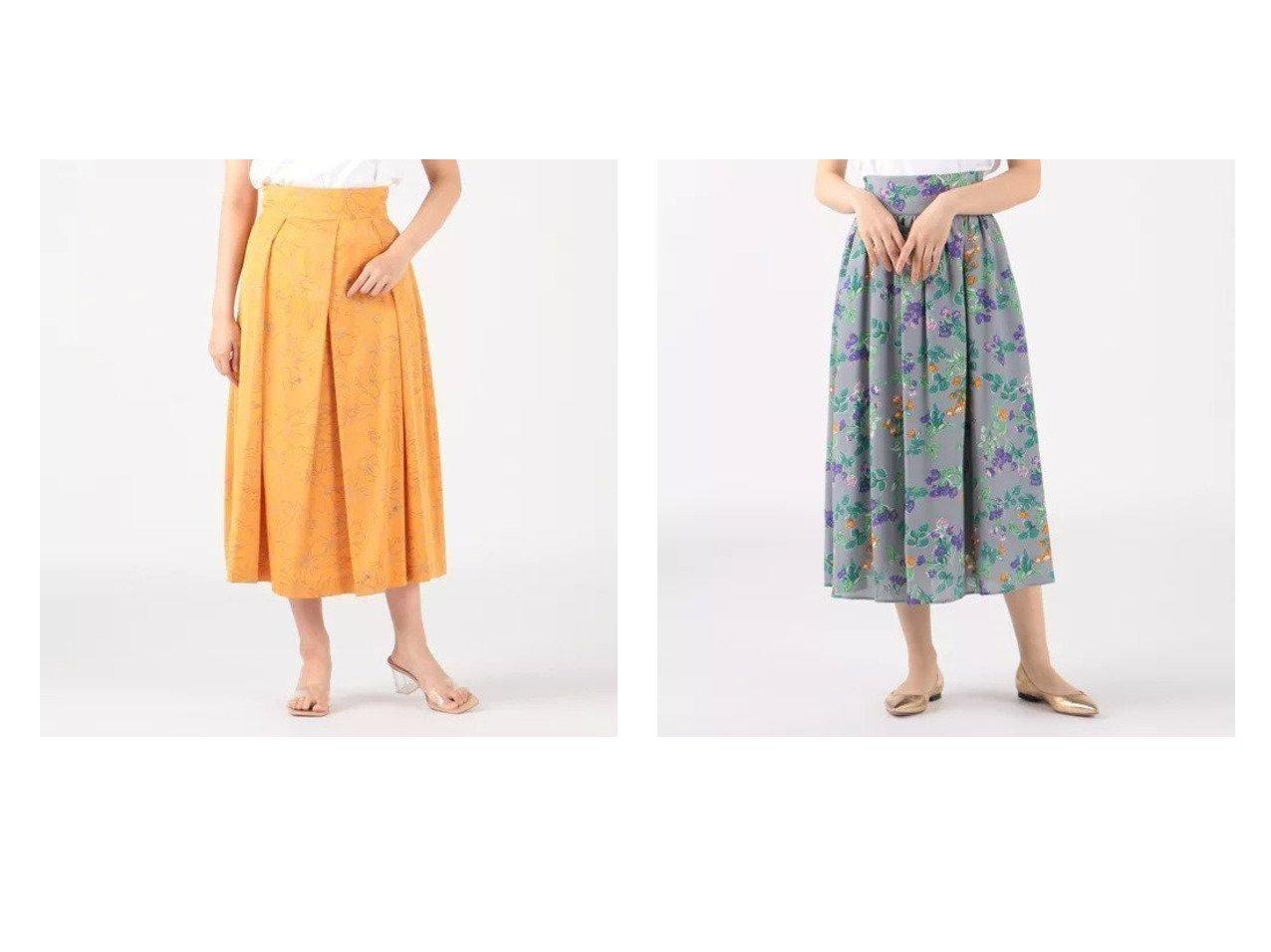 【Tiara/ティアラ】のラインフラワープリントタックフレアスカート&フラワーPtロングスカート 【スカート】おすすめ!人気、トレンド・レディースファッションの通販 おすすめで人気の流行・トレンド、ファッションの通販商品 インテリア・家具・メンズファッション・キッズファッション・レディースファッション・服の通販 founy(ファニー) https://founy.com/ ファッション Fashion レディースファッション WOMEN スカート Skirt Aライン/フレアスカート Flared A-Line Skirts ロングスカート Long Skirt ギャザー フラワー フレア マキシ ロング プリント リュクス 洗える |ID:crp329100000045126