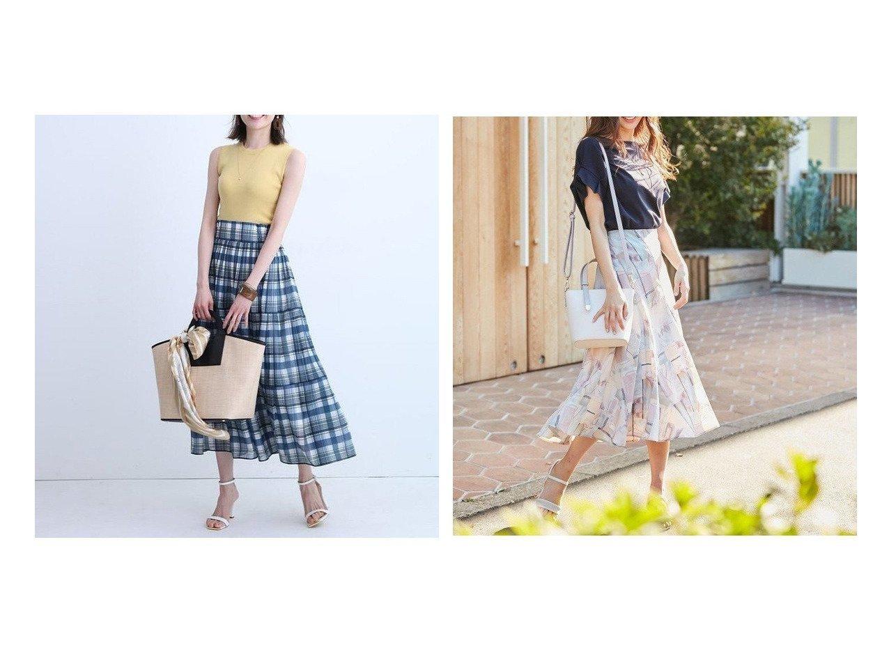 【any SiS/エニィ スィス】の【洗える】エスカルゴ スカート&【Apuweiser-riche/アプワイザーリッシェ】のシアーチェックスカート 【スカート】おすすめ!人気、トレンド・レディースファッションの通販 おすすめで人気の流行・トレンド、ファッションの通販商品 インテリア・家具・メンズファッション・キッズファッション・レディースファッション・服の通販 founy(ファニー) https://founy.com/ ファッション Fashion レディースファッション WOMEN スカート Skirt Aライン/フレアスカート Flared A-Line Skirts NEW・新作・新着・新入荷 New Arrivals エアリー ギャザー チェック ティアードスカート フレア マキシ シンプル プリント ヘムライン 今季 洗える |ID:crp329100000045135