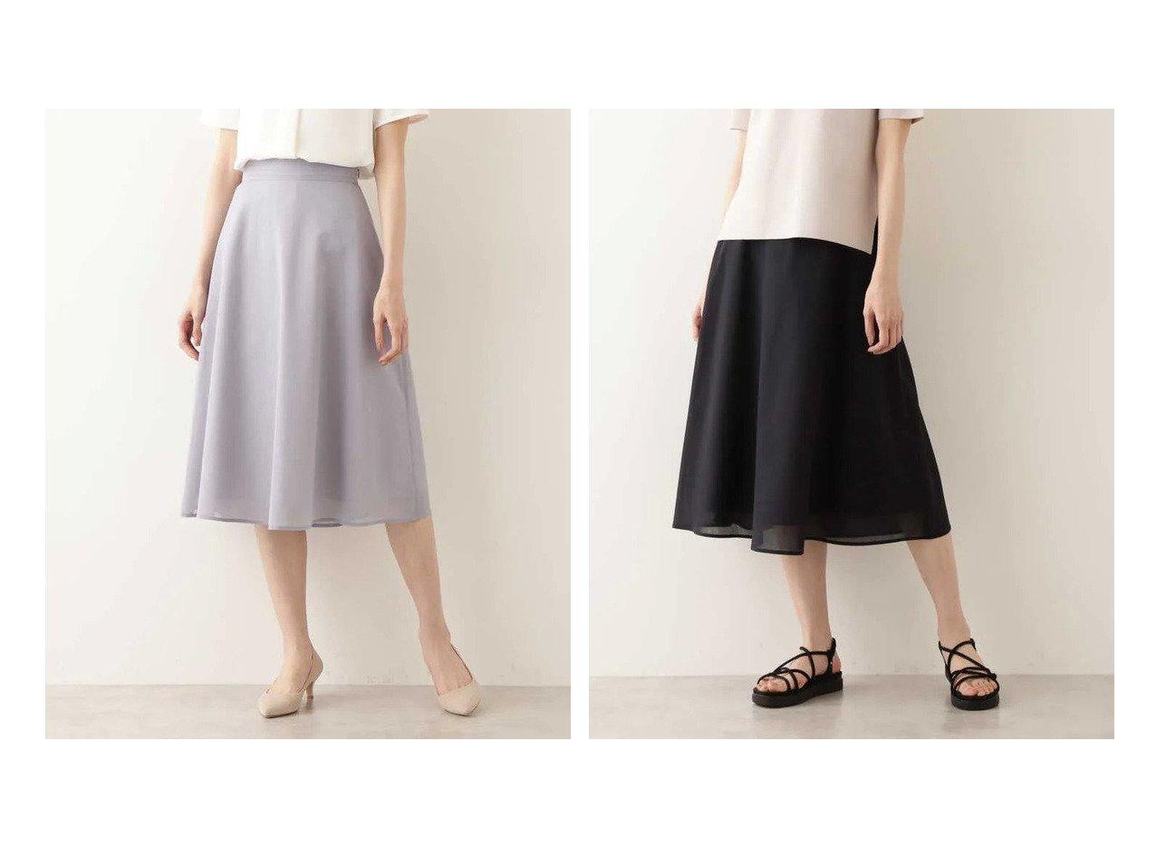 【NATURAL BEAUTY BASIC/ナチュラル ビューティー ベーシック】のリネンライクシアースカート 【スカート】おすすめ!人気、トレンド・レディースファッションの通販 おすすめで人気の流行・トレンド、ファッションの通販商品 インテリア・家具・メンズファッション・キッズファッション・レディースファッション・服の通販 founy(ファニー) https://founy.com/ ファッション Fashion レディースファッション WOMEN スカート Skirt シアー フレア |ID:crp329100000045138