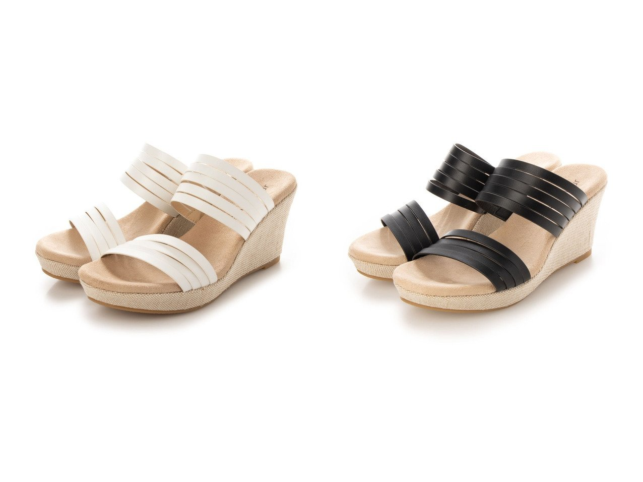 【grandfleur/グランドフルール】のダブルストラップのウェッジサンダル 【シューズ・靴】おすすめ!人気、トレンド・レディースファッションの通販 おすすめで人気の流行・トレンド、ファッションの通販商品 インテリア・家具・メンズファッション・キッズファッション・レディースファッション・服の通販 founy(ファニー) https://founy.com/ ファッション Fashion レディースファッション WOMEN NEW・新作・新着・新入荷 New Arrivals 2021年 2021 2021春夏・S/S SS/Spring/Summer/2021 S/S・春夏 SS・Spring/Summer インソール フィット 春 Spring  ID:crp329100000045180