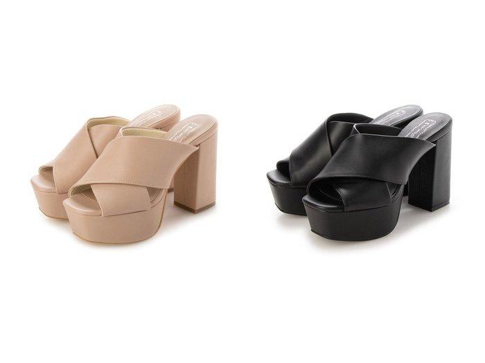 【Metal Rouge/メタルルージュ】のスクエア 厚底ビックヒール クロスベルトミュール 【シューズ・靴】おすすめ!人気、トレンド・レディースファッションの通販 おすすめ人気トレンドファッション通販アイテム 人気、トレンドファッション・服の通販 founy(ファニー)  ファッション Fashion レディースファッション WOMEN ベルト Belts 2021年 2021 2021春夏・S/S SS/Spring/Summer/2021 S/S・春夏 SS・Spring/Summer クラシカル スクエア ミュール 厚底 春 Spring |ID:crp329100000045181
