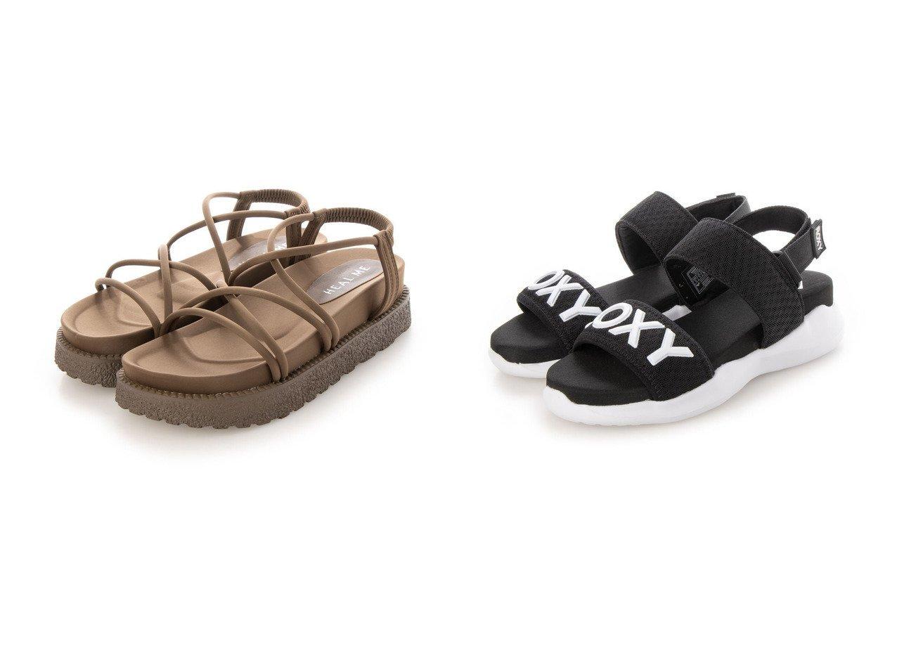 【ROXY/ロキシー】のロキシー RSD202500 サンダル&【HEAL ME/ヒールミー】のレディース 厚底ストラップサンダル 221222 【シューズ・靴】おすすめ!人気、トレンド・レディースファッションの通販 おすすめで人気の流行・トレンド、ファッションの通販商品 インテリア・家具・メンズファッション・キッズファッション・レディースファッション・服の通販 founy(ファニー) https://founy.com/ ファッション Fashion レディースファッション WOMEN 2021年 2021 2021春夏・S/S SS/Spring/Summer/2021 S/S・春夏 SS・Spring/Summer クッション サンダル スマート ダブル ビーチ フィット メッシュ 春 Spring 厚底 シャーリング ストラップサンダル トレンド ヌーディ フラット ラップ リゾート  ID:crp329100000045185