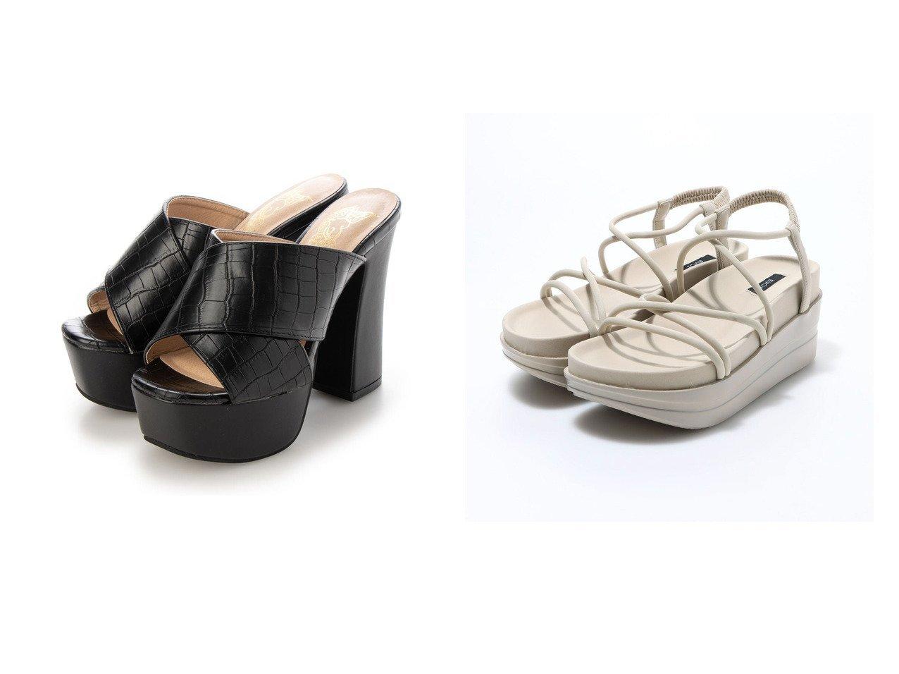 【EVOL/イーボル】のプラットフォームクロスサンダル&【LOVEHUNTER/ラブハンター】のSFW スクエアトゥ厚底ストームクロスサンダル/1551 【シューズ・靴】おすすめ!人気、トレンド・レディースファッションの通販 おすすめで人気の流行・トレンド、ファッションの通販商品 インテリア・家具・メンズファッション・キッズファッション・レディースファッション・服の通販 founy(ファニー) https://founy.com/ ファッション Fashion レディースファッション WOMEN 2021年 2021 2021春夏・S/S SS/Spring/Summer/2021 S/S・春夏 SS・Spring/Summer トレンド フレア 人気 厚底 春 Spring  ID:crp329100000045187