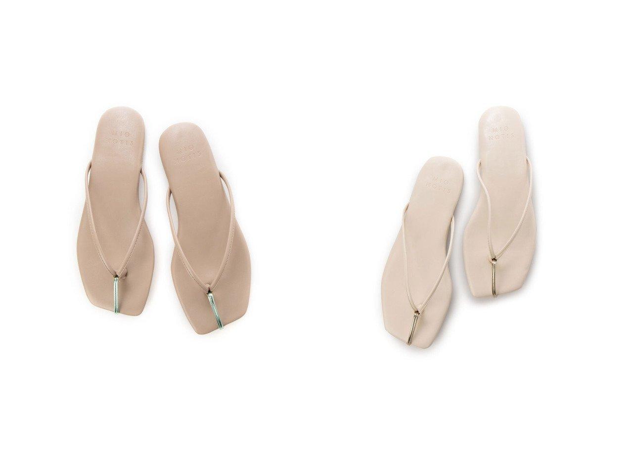 【mio notis/ミオ ノティス】のトゥポイントトングフラットサンダル 【シューズ・靴】おすすめ!人気、トレンド・レディースファッションの通販 おすすめで人気の流行・トレンド、ファッションの通販商品 インテリア・家具・メンズファッション・キッズファッション・レディースファッション・服の通販 founy(ファニー) https://founy.com/ ファッション Fashion レディースファッション WOMEN 2021年 2021 2021春夏・S/S SS/Spring/Summer/2021 S/S・春夏 SS・Spring/Summer メタリック 春 Spring  ID:crp329100000045188