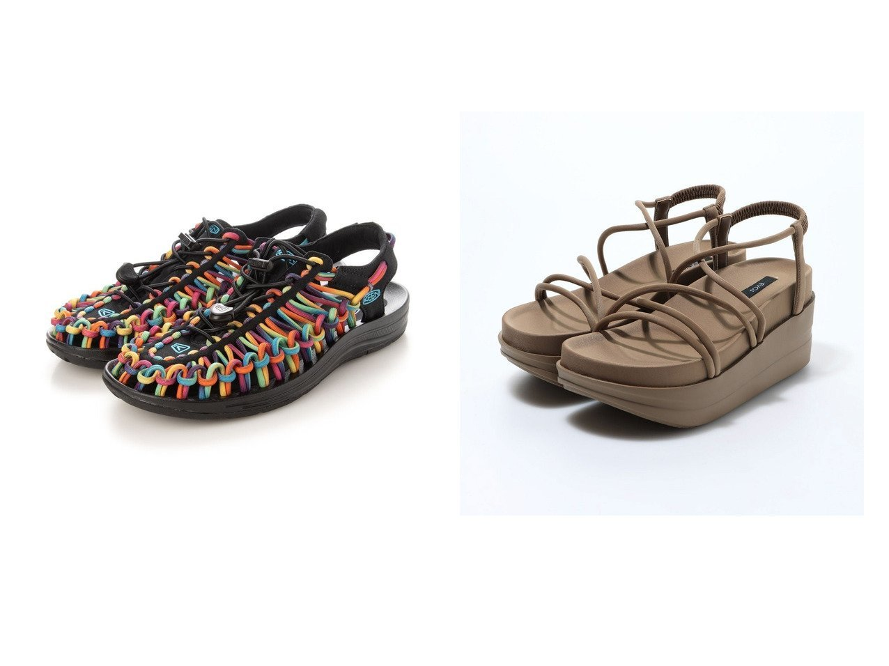 【EVOL/イーボル】のプラットフォームクロスサンダル&【KEEN/キーン】のキーン アウトドアサンダル ユニーク UNEEK 1025191 【シューズ・靴】おすすめ!人気、トレンド・レディースファッションの通販 おすすめで人気の流行・トレンド、ファッションの通販商品 インテリア・家具・メンズファッション・キッズファッション・レディースファッション・服の通販 founy(ファニー) https://founy.com/ ファッション Fashion レディースファッション WOMEN アウトドア 春 Spring サンダル スニーカー スマート フィット 2021年 2021 S/S・春夏 SS・Spring/Summer 2021春夏・S/S SS/Spring/Summer/2021 クッション 厚底  ID:crp329100000045189