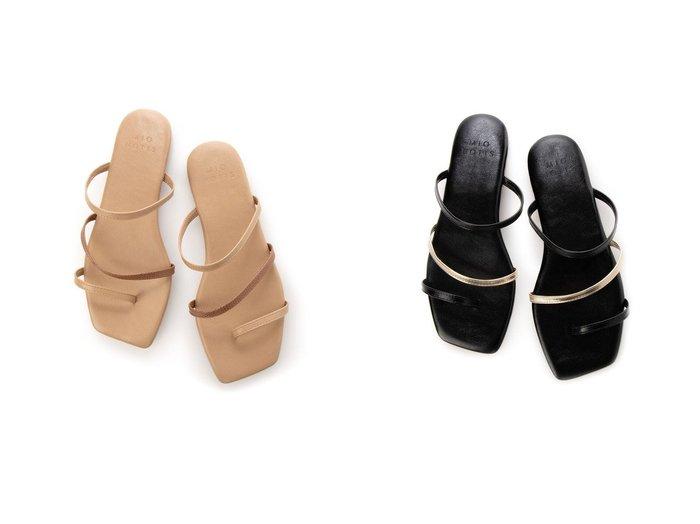 【mio notis/ミオ ノティス】のバイカラーベルトトングサンダル 【シューズ・靴】おすすめ!人気、トレンド・レディースファッションの通販 おすすめ人気トレンドファッション通販アイテム 人気、トレンドファッション・服の通販 founy(ファニー)  ファッション Fashion レディースファッション WOMEN ベルト Belts 2021年 2021 2021春夏・S/S SS/Spring/Summer/2021 S/S・春夏 SS・Spring/Summer ジーンズ フラット 春 Spring |ID:crp329100000045190