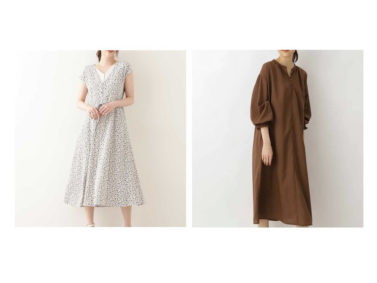 【NATURAL BEAUTY BASIC/ナチュラル ビューティー ベーシック】のボイルペザントワンピース&レイヤード風ワンピース 【ワンピース・ドレス】おすすめ!人気、トレンド・レディースファッションの通販 おすすめで人気の流行・トレンド、ファッションの通販商品 インテリア・家具・メンズファッション・キッズファッション・レディースファッション・服の通販 founy(ファニー) https://founy.com/ ファッション Fashion レディースファッション WOMEN ワンピース Dress ギャザー フロント リラックス シェイプ トレンド プリント 無地  ID:crp329100000045247