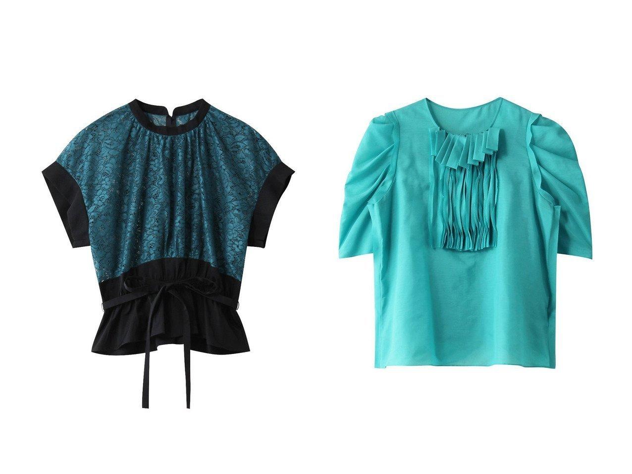 【LANVIN en Bleu/ランバン オン ブルー】のレースドッキングブラウス&シアーローンフリルブラウス 【トップス・カットソー】おすすめ!人気、トレンド・レディースファッションの通販 おすすめで人気の流行・トレンド、ファッションの通販商品 インテリア・家具・メンズファッション・キッズファッション・レディースファッション・服の通販 founy(ファニー) https://founy.com/ ファッション Fashion レディースファッション WOMEN トップス・カットソー Tops/Tshirt シャツ/ブラウス Shirts/Blouses インナー ショルダー ショート スリーブ リボン レース 半袖  ID:crp329100000045262