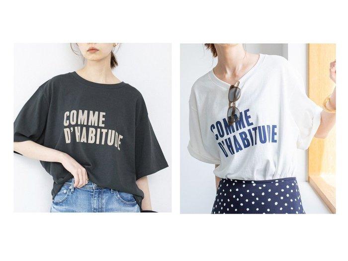 【IENA/イエナ】の《》COMME DHABITUDE Tシャツ 【トップス・カットソー】おすすめ!人気、トレンド・レディースファッションの通販 おすすめ人気トレンドファッション通販アイテム 人気、トレンドファッション・服の通販 founy(ファニー) ファッション Fashion レディースファッション WOMEN トップス・カットソー Tops/Tshirt シャツ/ブラウス Shirts/Blouses ロング / Tシャツ T-Shirts カットソー Cut and Sewn 2021年 2021 2021春夏・S/S SS/Spring/Summer/2021 S/S・春夏 SS・Spring/Summer プリント リラックス 再入荷 Restock/Back in Stock/Re Arrival 定番 Standard |ID:crp329100000045307