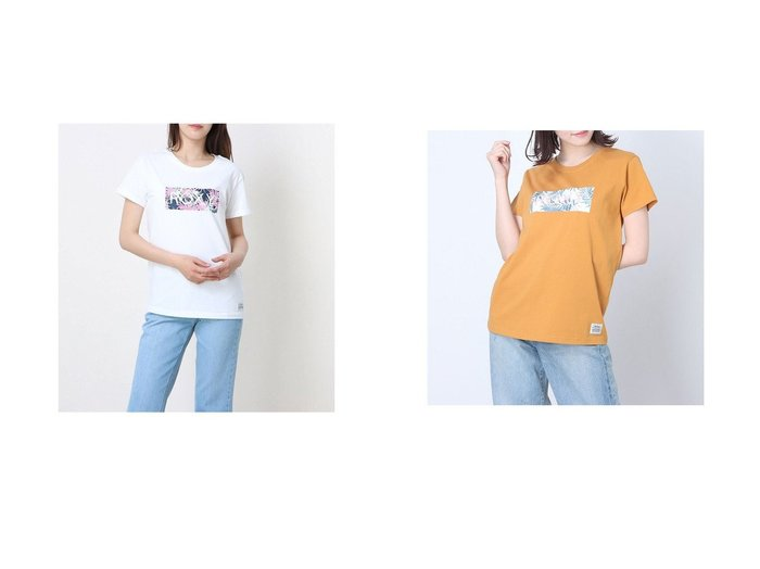 【ROXY/ロキシー】のロキシー ルーズシルエット ボタニカルロゴTシャツ RST202026 【トップス・カットソー】おすすめ!人気、トレンド・レディースファッションの通販 おすすめ人気トレンドファッション通販アイテム 人気、トレンドファッション・服の通販 founy(ファニー)  ファッション Fashion レディースファッション WOMEN トップス・カットソー Tops/Tshirt シャツ/ブラウス Shirts/Blouses ロング / Tシャツ T-Shirts ショート シンプル スマート ビーチ フロント リーフ レギンス |ID:crp329100000045320