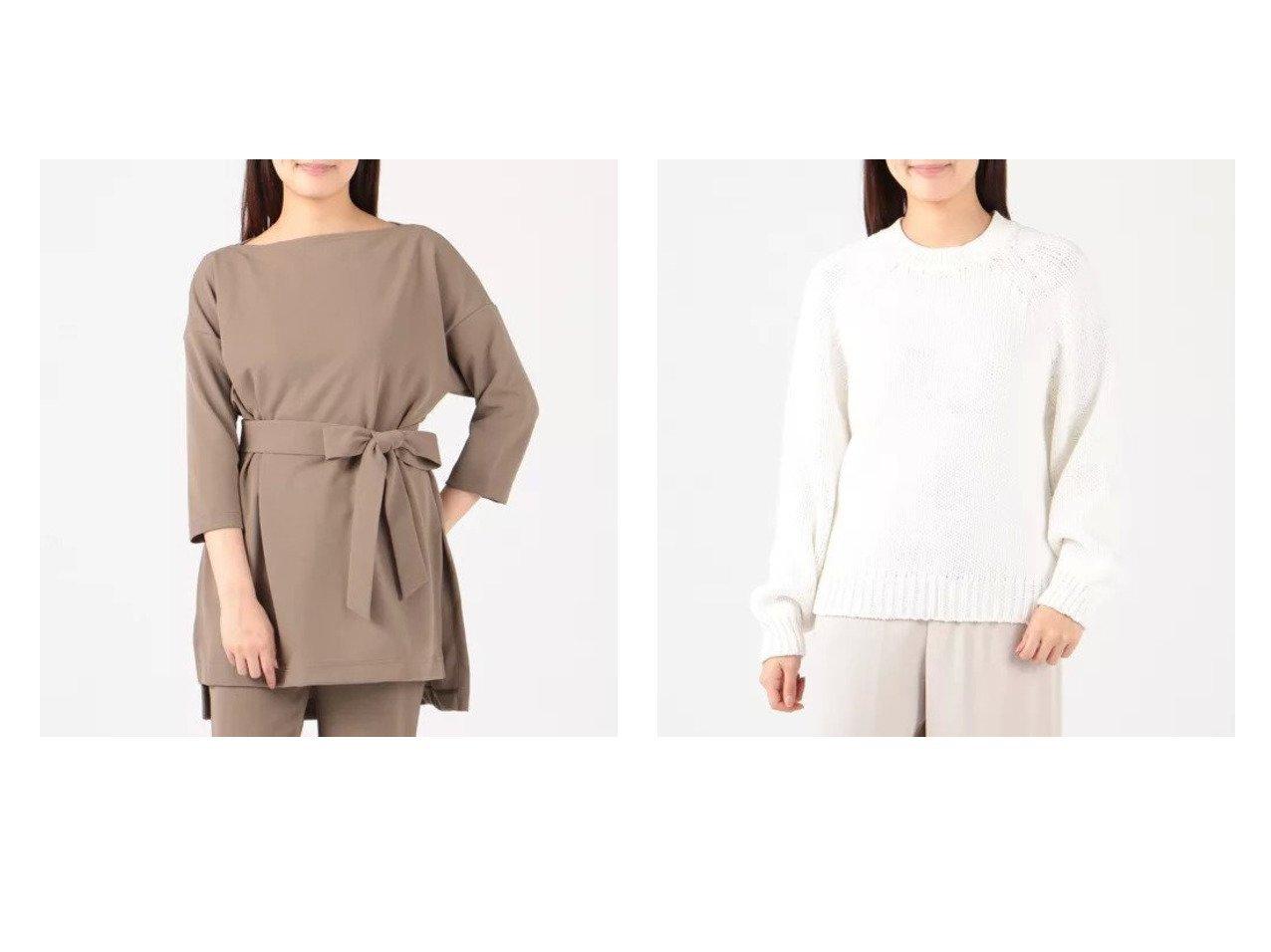 【Tiara/ティアラ】のサイドスリットカバートップス&3Gラグランプルオーバー 【トップス・カットソー】おすすめ!人気、トレンド・レディースファッションの通販 おすすめで人気の流行・トレンド、ファッションの通販商品 インテリア・家具・メンズファッション・キッズファッション・レディースファッション・服の通販 founy(ファニー) https://founy.com/ ファッション Fashion レディースファッション WOMEN トップス・カットソー Tops/Tshirt シャツ/ブラウス Shirts/Blouses ロング / Tシャツ T-Shirts カットソー Cut and Sewn ニット Knit Tops プルオーバー Pullover エレガント カットソー シンプル スリット チュニック リボン 洗える 長袖  ID:crp329100000045335