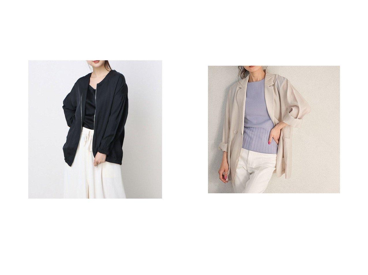 【Rename/リネーム】のノーカラージップアップライトアウター&【Cherie Mona/シェリーモナ】のテンセルライトジャケット おすすめ!人気、トレンド・レディースファッションの通販 おすすめで人気の流行・トレンド、ファッションの通販商品 インテリア・家具・メンズファッション・キッズファッション・レディースファッション・服の通販 founy(ファニー) https://founy.com/ ファッション Fashion レディースファッション WOMEN アウター Coat Outerwear ジャケット Jackets 2021年 2021 2021春夏・S/S SS/Spring/Summer/2021 S/S・春夏 SS・Spring/Summer おすすめ Recommend キャミソール ジャケット フロント ポケット ルーズ 春 Spring  ID:crp329100000045345