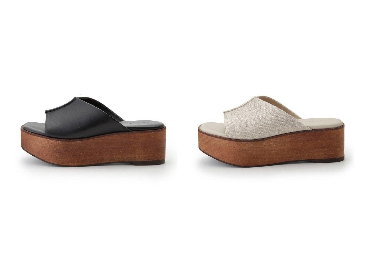 【FRAY I.D/フレイ アイディー】のウッドプラットフォームサンダル 【シューズ・靴】おすすめ!人気、トレンド・レディースファッションの通販 おすすめで人気の流行・トレンド、ファッションの通販商品 インテリア・家具・メンズファッション・キッズファッション・レディースファッション・服の通販 founy(ファニー) https://founy.com/ ファッション Fashion レディースファッション WOMEN サンダル シューズ ミュール 軽量 |ID:crp329100000045530