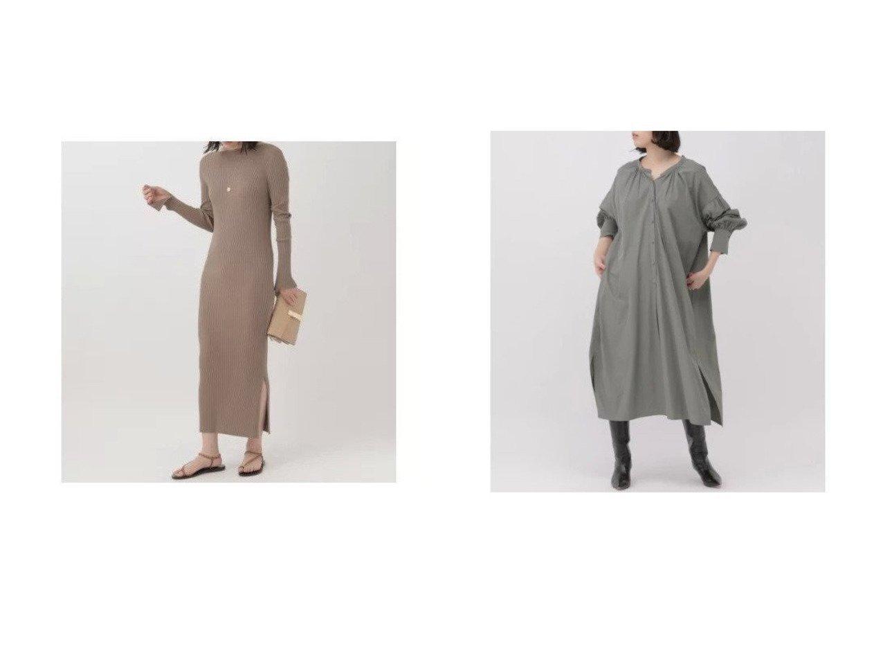 【Chaos/カオス】のシルクコンリブニットワンピース&プルプギャザーワンピース 【ワンピース・ドレス】おすすめ!人気、トレンド・レディースファッションの通販 おすすめで人気の流行・トレンド、ファッションの通販商品 インテリア・家具・メンズファッション・キッズファッション・レディースファッション・服の通販 founy(ファニー) https://founy.com/ ファッション Fashion レディースファッション WOMEN ワンピース Dress シャツワンピース Shirt Dresses ニットワンピース Knit Dresses おすすめ Recommend ギャザー タイプライター 長袖  ID:crp329100000045562
