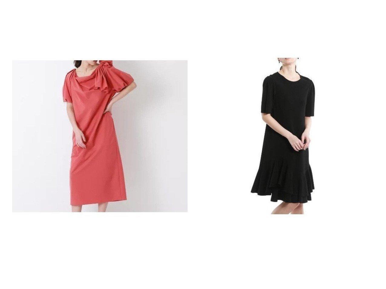 【EPOCA/エポカ】のキュプラベーシックフレアブラック ドレス&【FABRICA】サックドレス 【ワンピース・ドレス】おすすめ!人気、トレンド・レディースファッションの通販 おすすめで人気の流行・トレンド、ファッションの通販商品 インテリア・家具・メンズファッション・キッズファッション・レディースファッション・服の通販 founy(ファニー) https://founy.com/ ファッション Fashion レディースファッション WOMEN ワンピース Dress ドレス Party Dresses ストレッチ ドレス ドレープ フォーマル フレア 定番 Standard タフタ フォルム リボン  ID:crp329100000045564