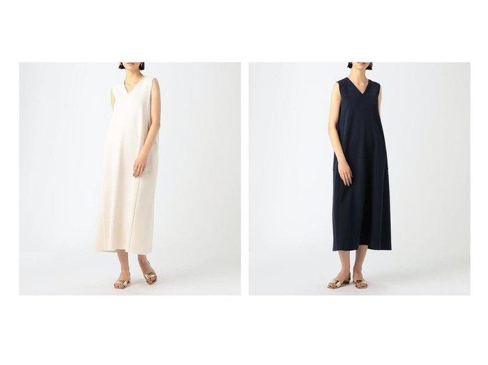 【TOMORROWLAND BALLSEY/トゥモローランド ボールジー】のミラノリブ Vネックワンピース 【ワンピース・ドレス】おすすめ!人気、トレンド・レディースファッションの通販 おすすめ人気トレンドファッション通販アイテム 人気、トレンドファッション・服の通販 founy(ファニー) ファッション Fashion レディースファッション WOMEN ワンピース Dress 2021年 2021 2021春夏・S/S SS/Spring/Summer/2021 S/S・春夏 SS・Spring/Summer おすすめ Recommend サンダル ストレッチ バランス フラット ミラノリブ リラックス 定番 Standard |ID:crp329100000045571
