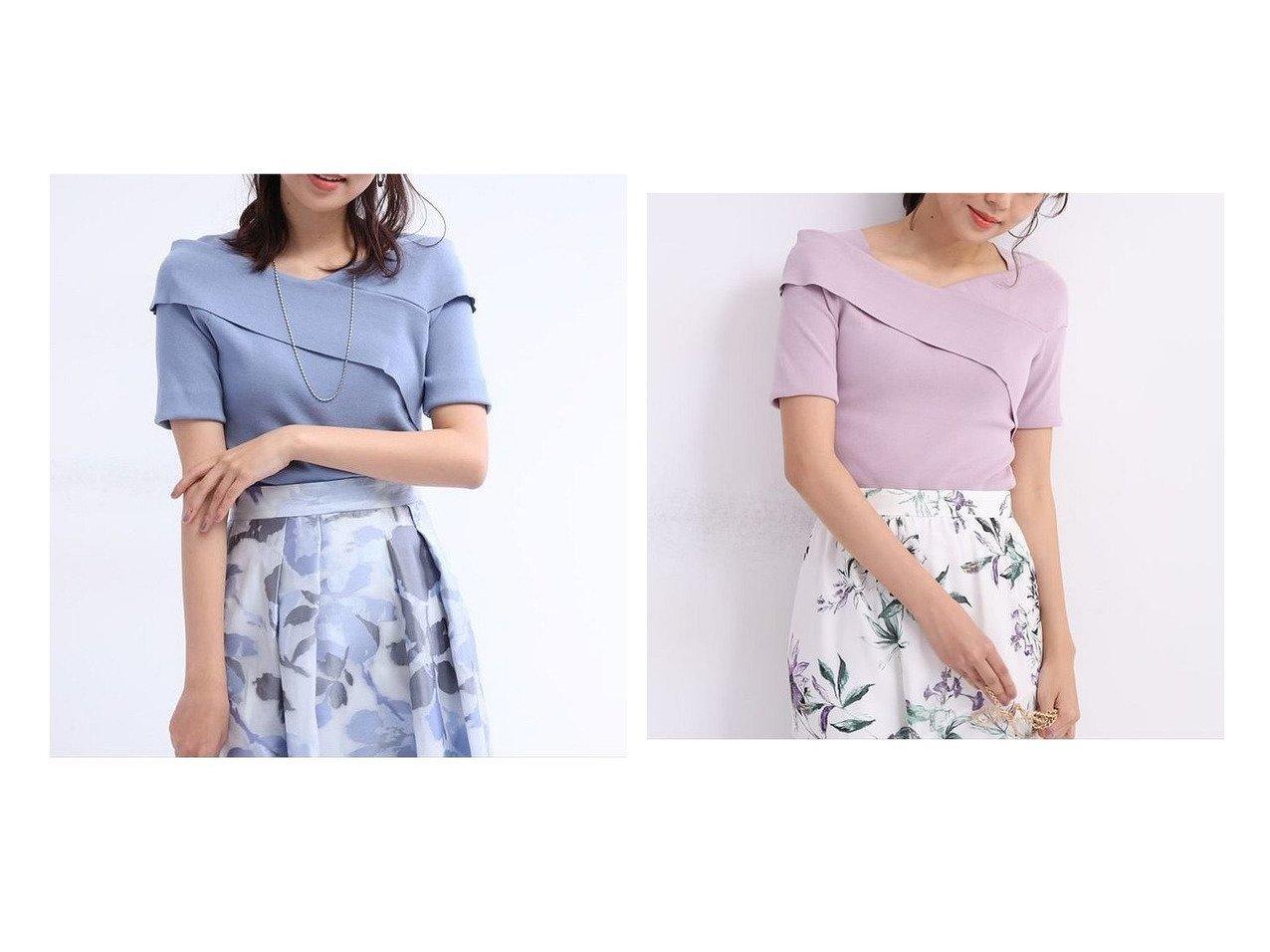 【JUSGLITTY/ジャスグリッティー】の半袖前後2WAYカシュクールニット 【トップス・カットソー】おすすめ!人気、トレンド・レディースファッションの通販 おすすめで人気の流行・トレンド、ファッションの通販商品 インテリア・家具・メンズファッション・キッズファッション・レディースファッション・服の通販 founy(ファニー) https://founy.com/ ファッション Fashion レディースファッション WOMEN トップス・カットソー Tops/Tshirt ニット Knit Tops カシュクール セーター フィット ボトム 半袖 |ID:crp329100000045619