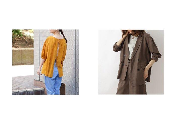 【NATURAL BEAUTY BASIC/ナチュラル ビューティー ベーシック】のキュプラ麻ソフトセットアップ ジャケット&[洗える]オーガニックコットンバックシャンブラウス おすすめ!人気、トレンド・レディースファッションの通販 おすすめ人気トレンドファッション通販アイテム インテリア・キッズ・メンズ・レディースファッション・服の通販 founy(ファニー) https://founy.com/ ファッションモデル・俳優・女優 Models 女性 Women 竹下玲奈 Takeshita Rena ファッション Fashion レディースファッション WOMEN トップス・カットソー Tops/Tshirt シャツ/ブラウス Shirts/Blouses バッグ Bag アウター Coat Outerwear ジャケット Jackets 2021年 2021 2021春夏・S/S SS/Spring/Summer/2021 S/S・春夏 SS・Spring/Summer おすすめ Recommend シアー スタンダード スリーブ ブラウジング リボン 春 Spring 洗える キュプラ ショート ジャケット セットアップ ダブル ビッグ リラックス  ID:crp329100000045896