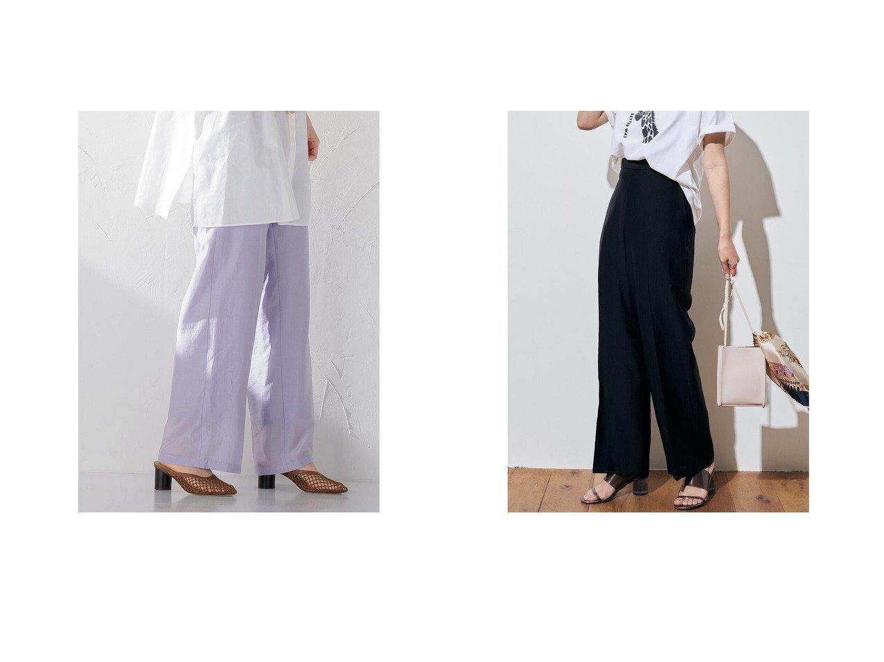 【Droite Lautreamont/ドロワット ロートレアモン】のSKELETENシアーワイドパンツ 【パンツ】おすすめ!人気、トレンド・レディースファッションの通販 おすすめで人気の流行・トレンド、ファッションの通販商品 インテリア・家具・メンズファッション・キッズファッション・レディースファッション・服の通販 founy(ファニー) https://founy.com/ ファッション Fashion レディースファッション WOMEN パンツ Pants A/W・秋冬 AW・Autumn/Winter・FW・Fall-Winter シアー パープル ベーシック ワイド |ID:crp329100000045922