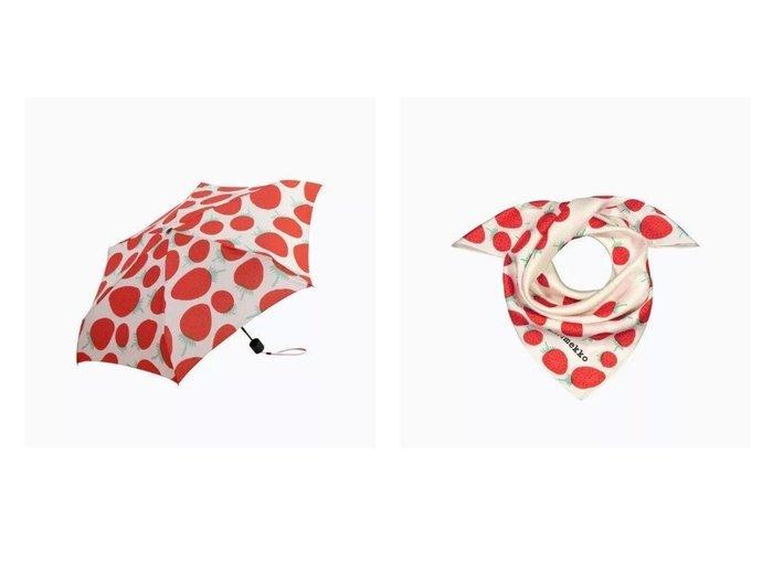 【marimekko/マリメッコ】のMini Manual Mansikka 折りたたみ傘&Josina Mansikka スカーフ おすすめ!人気トレンド・レディースファッション通販 おすすめ人気トレンドファッション通販アイテム 人気、トレンドファッション・服の通販 founy(ファニー)  ファッション Fashion レディースファッション WOMEN ストール Scarves マフラー Mufflers 傘 / レイングッズ Umbrellas/Rainwear シルク スカーフ スクエア ストール プリント マフラー ポーチ ラップ 傘 |ID:crp329100000046035