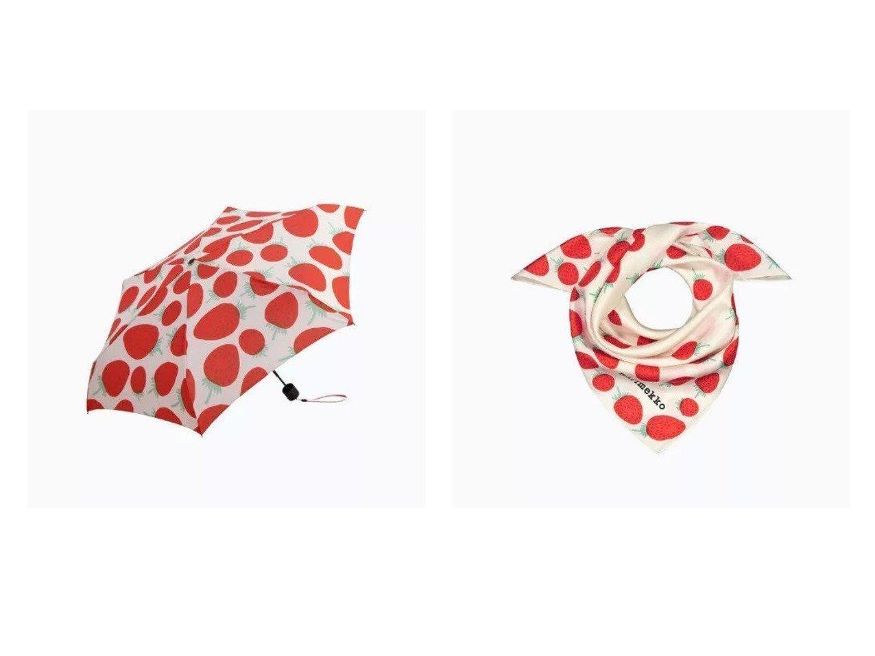 【marimekko/マリメッコ】のMini Manual Mansikka 折りたたみ傘&Josina Mansikka スカーフ おすすめ!人気トレンド・レディースファッション通販 おすすめで人気の流行・トレンド、ファッションの通販商品 インテリア・家具・メンズファッション・キッズファッション・レディースファッション・服の通販 founy(ファニー) https://founy.com/ ファッション Fashion レディースファッション WOMEN ストール Scarves マフラー Mufflers 傘 / レイングッズ Umbrellas/Rainwear シルク スカーフ スクエア ストール プリント マフラー ポーチ ラップ 傘 |ID:crp329100000046035