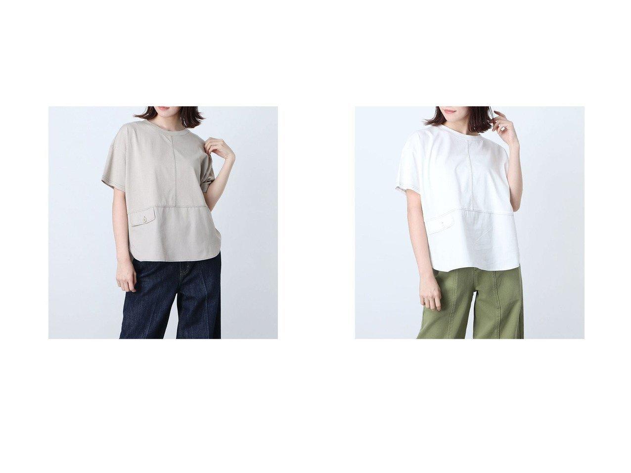 【COMME CA ISM/コムサイズム】の異素材切り替え Tシャツ おすすめ!人気トレンド・レディースファッション通販 おすすめで人気の流行・トレンド、ファッションの通販商品 インテリア・家具・メンズファッション・キッズファッション・レディースファッション・服の通販 founy(ファニー) https://founy.com/ ファッション Fashion レディースファッション WOMEN トップス・カットソー Tops/Tshirt シャツ/ブラウス Shirts/Blouses ロング / Tシャツ T-Shirts 2021年 2021 2021春夏・S/S SS/Spring/Summer/2021 S/S・春夏 SS・Spring/Summer フラップ ポケット リラックス ルーズ 半袖 春 Spring |ID:crp329100000046044