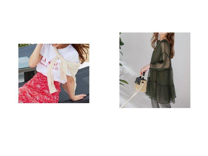 【VICKY/ビッキー】の前後2WAYシアーティアードブラウス《手洗い可能》&ロゴTシャツ おすすめ!人気トレンド・レディースファッション通販 おすすめ人気トレンドファッション通販アイテム 人気、トレンドファッション・服の通販 founy(ファニー) ファッション Fashion レディースファッション WOMEN トップス・カットソー Tops/Tshirt シャツ/ブラウス Shirts/Blouses ロング / Tシャツ T-Shirts A/W・秋冬 AW・Autumn/Winter・FW・Fall-Winter おすすめ Recommend コレクション コンパクト シンプル インナー シアー  ID:crp329100000046049