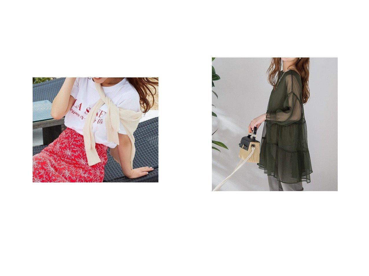【VICKY/ビッキー】の前後2WAYシアーティアードブラウス《手洗い可能》&ロゴTシャツ おすすめ!人気トレンド・レディースファッション通販 おすすめで人気の流行・トレンド、ファッションの通販商品 インテリア・家具・メンズファッション・キッズファッション・レディースファッション・服の通販 founy(ファニー) https://founy.com/ ファッション Fashion レディースファッション WOMEN トップス・カットソー Tops/Tshirt シャツ/ブラウス Shirts/Blouses ロング / Tシャツ T-Shirts A/W・秋冬 AW・Autumn/Winter・FW・Fall-Winter おすすめ Recommend コレクション コンパクト シンプル インナー シアー |ID:crp329100000046049