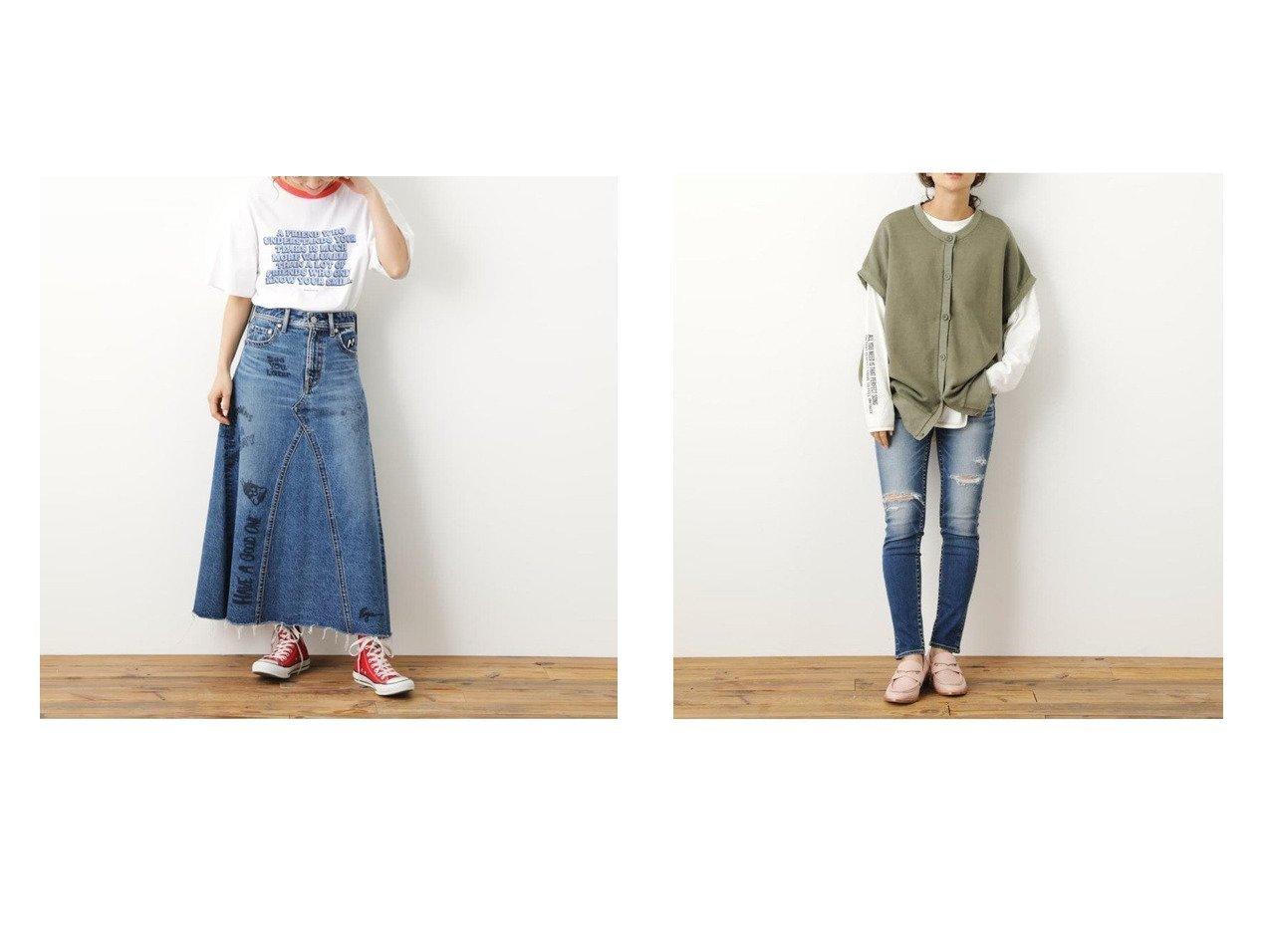 【RODEO CROWNS WIDE BOWL/ロデオクラウンズワイドボウル】のADDICTIVE JF CRASH TYPE2スキニー&Ryu AmbeRCSデニムスカート おすすめ!人気トレンド・レディースファッション通販 おすすめで人気の流行・トレンド、ファッションの通販商品 インテリア・家具・メンズファッション・キッズファッション・レディースファッション・服の通販 founy(ファニー) https://founy.com/ ファッション Fashion レディースファッション WOMEN スカート Skirt デニムスカート Denim Skirts パンツ Pants イラスト デニム プリント ロング イエロー クラッシュ ジーンズ スキニー フロント |ID:crp329100000046051